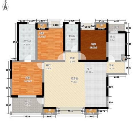 兰亭园3室0厅2卫1厨144.00㎡户型图