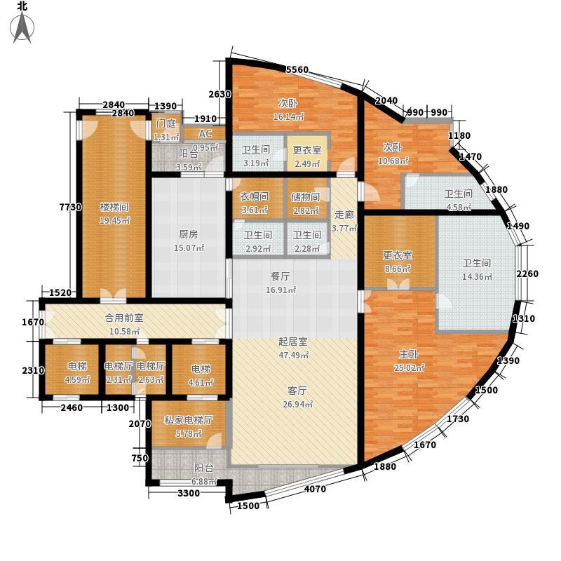 伴景湾325.33㎡27201单元4室面积32533m户型