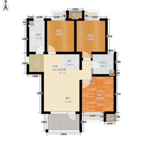 荣盛锦绣花苑3室0厅1卫1厨105.00㎡户型图