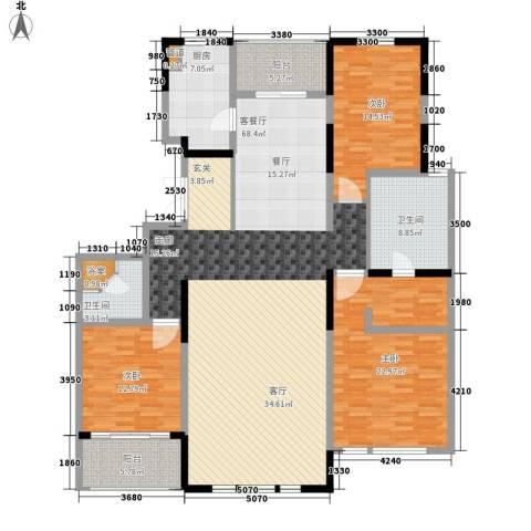 建发珑庭3室1厅2卫1厨169.00㎡户型图