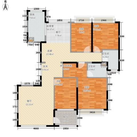 济南恒大名都4室0厅2卫1厨170.00㎡户型图