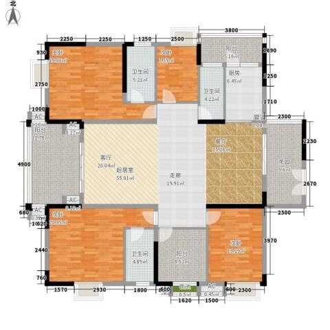 威斯登堡4室0厅3卫1厨210.00㎡户型图