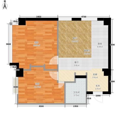 新洲・上海花园・浦江苑2室1厅1卫0厨105.00㎡户型图