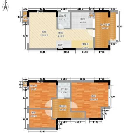 雪梨澳乡3室1厅2卫0厨77.94㎡户型图
