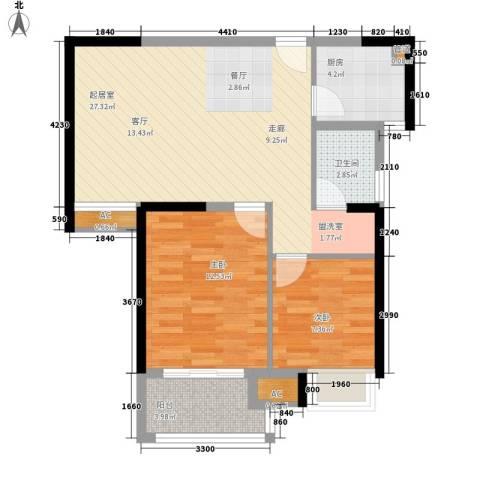 新城尚东区2室0厅1卫1厨86.00㎡户型图