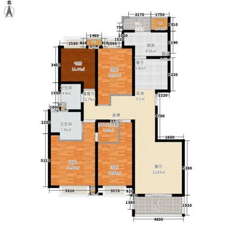 中海万锦城4室1厅2卫1厨177.00㎡户型图