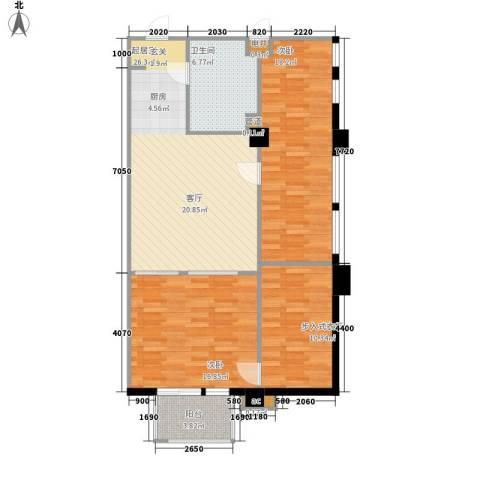 洪客隆第一街区2室0厅1卫0厨91.00㎡户型图