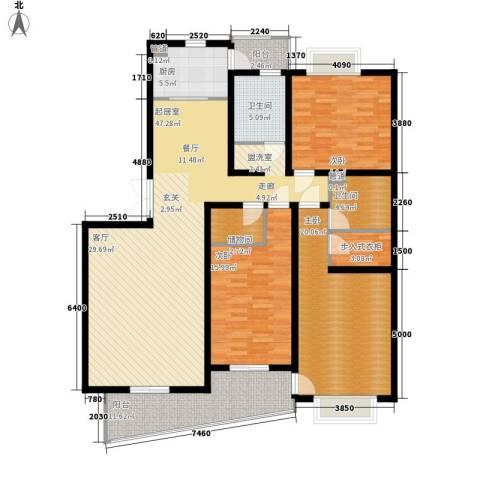 圣雅园·丽景3室0厅2卫1厨150.00㎡户型图