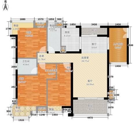 雅景湾3室0厅2卫1厨138.00㎡户型图