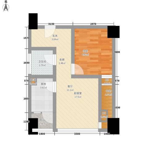 熙城国际1室0厅1卫1厨55.00㎡户型图
