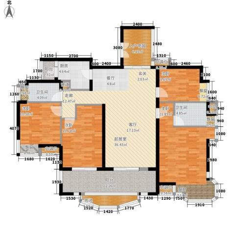 雅景湾4室0厅2卫1厨152.00㎡户型图
