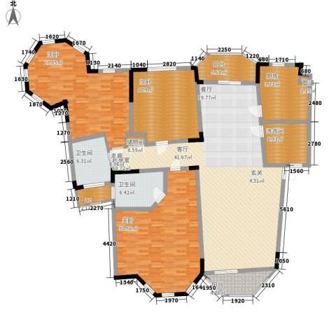 铭雅欧洲城3室0厅2卫1厨200.00㎡户型图