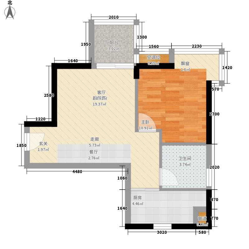 国际名苑 1室 户型图