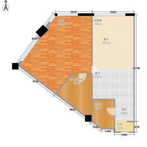 洪客隆第一街区1室0厅1卫0厨98.00㎡户型图