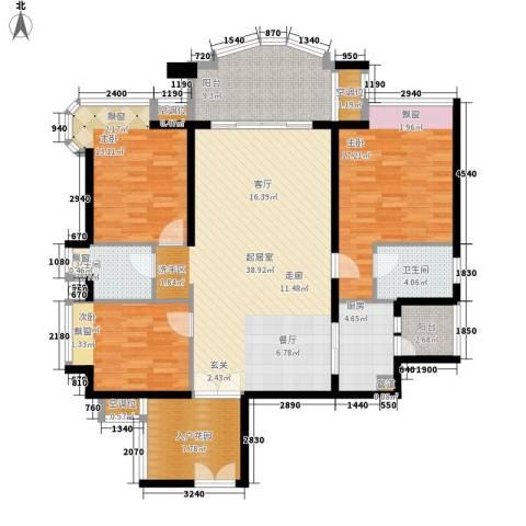 雅景湾3室0厅2卫1厨130.00㎡户型图