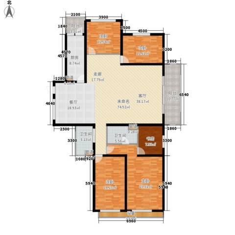 东骏豪苑5室0厅2卫1厨263.00㎡户型图