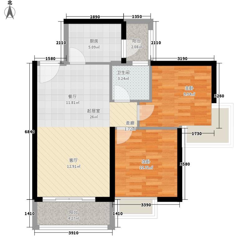 嘉湖山庄70.00㎡嘉湖山庄2室户型2室
