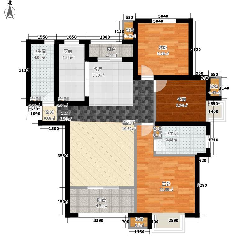 银丰唐郡・紫薇园133.00㎡银丰唐郡・紫薇园户型图B4-01户型3室2厅2卫户型3室2厅2卫