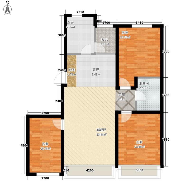 富雅豪临户型图3室2厅1卫
