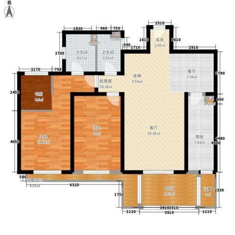 东骏豪苑2室0厅2卫1厨153.00㎡户型图