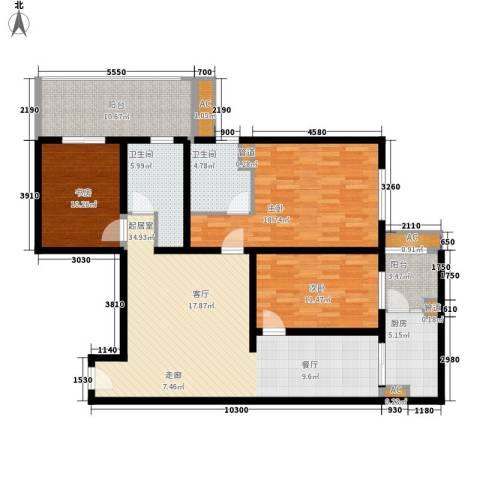 金圣甲第3室0厅2卫1厨129.00㎡户型图
