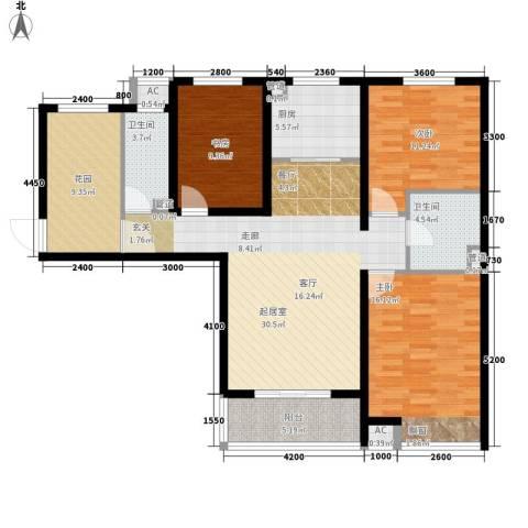 河风雅苑3室0厅2卫1厨118.00㎡户型图