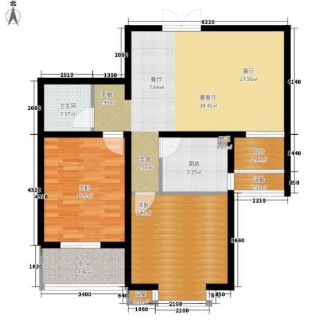 新领地2室1厅1卫1厨105.00㎡户型图