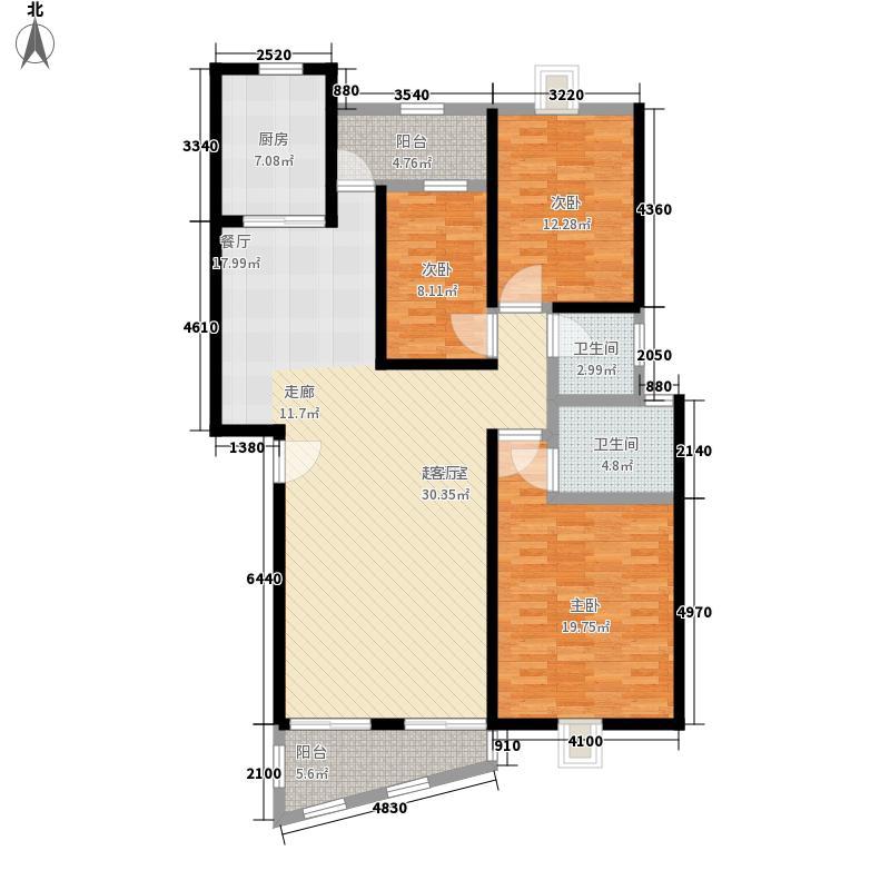 水晶苑132.00㎡水晶苑户型图户型图3室2厅2卫1厨户型3室2厅2卫1厨