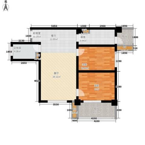 金圣甲第2室0厅1卫1厨107.00㎡户型图