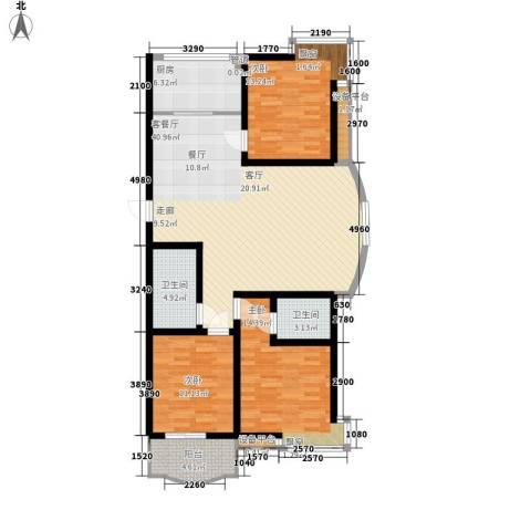 凯悦花园3室1厅2卫1厨144.00㎡户型图
