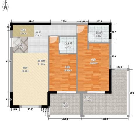 聚龙湖2室0厅2卫0厨106.29㎡户型图