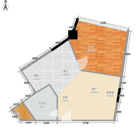 华林星座1室0厅1卫0厨81.00㎡户型图
