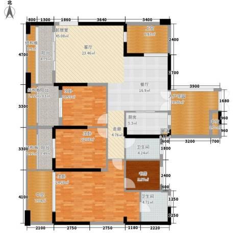 万科金御华府4室0厅2卫1厨158.13㎡户型图