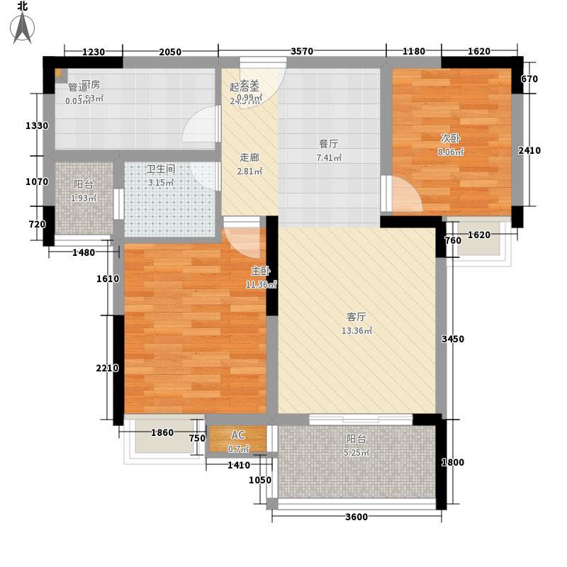 金悦湾65.79㎡2号楼标准层2号房E户型