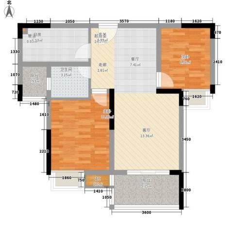 金悦湾2室0厅1卫1厨66.00㎡户型图