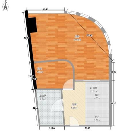 华林星座2室0厅1卫0厨61.00㎡户型图