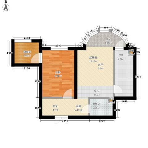 华风海城湾1室0厅1卫1厨46.00㎡户型图