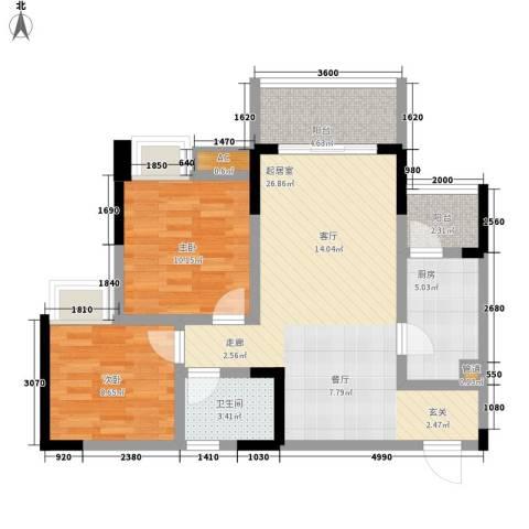 金悦湾2室0厅1卫1厨68.00㎡户型图