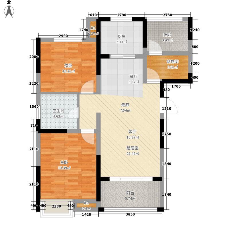 高速翡翠湖畔101.79㎡高速翡翠湖畔户型图5#B3户型2室2厅1卫1厨户型2室2厅1卫1厨