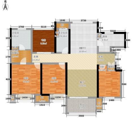 星光耀广场4室1厅2卫1厨140.00㎡户型图