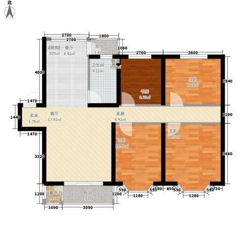 天时嘉园4室0厅1卫0厨140.00㎡户型图
