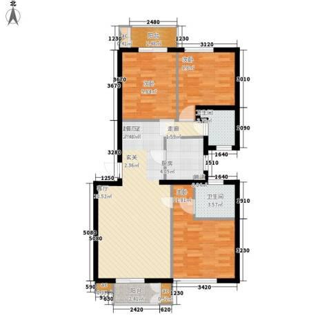 汪塘北村3室0厅2卫1厨85.00㎡户型图
