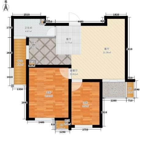 新创理想城2室1厅1卫0厨86.00㎡户型图