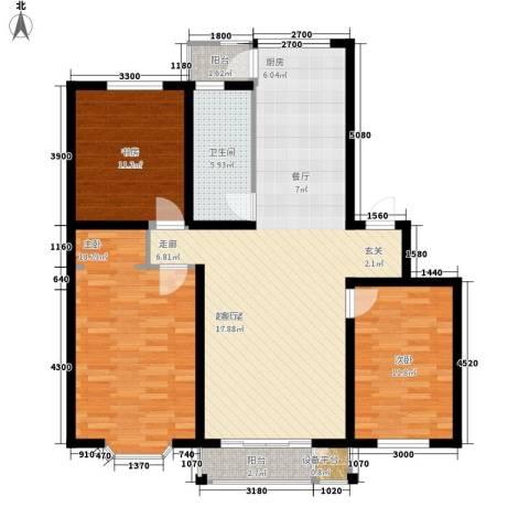 天时嘉园3室0厅1卫0厨122.00㎡户型图