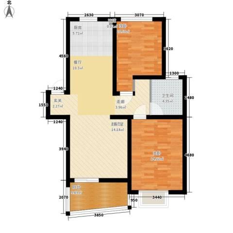 汪塘北村2室0厅1卫0厨80.00㎡户型图