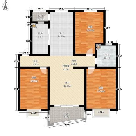 公交蜀山园3室0厅1卫1厨134.00㎡户型图