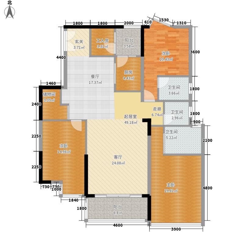 金丰花园132.00㎡金丰花园4室户型4室