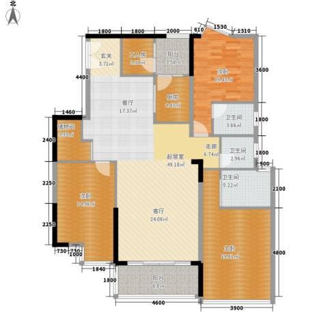 金丰花园3室0厅3卫1厨132.00㎡户型图