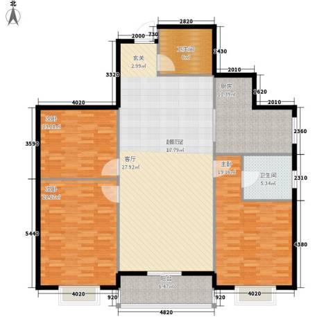 长丰园项目3室0厅2卫1厨142.00㎡户型图