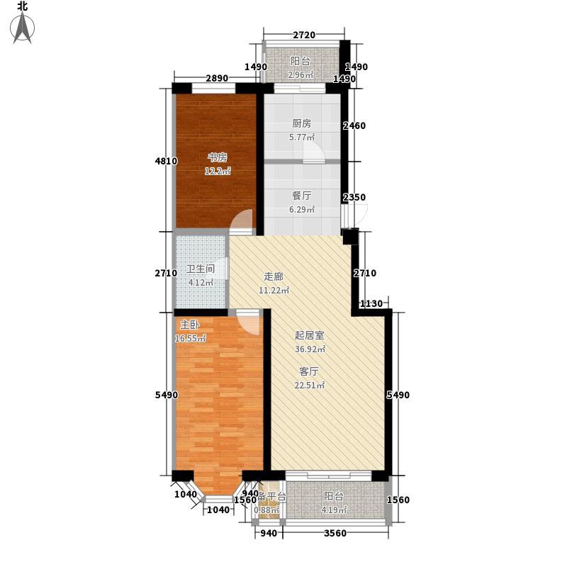 南风汇景阁96.00㎡南风汇景阁户型图2室2厅1卫户型10室
